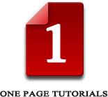One Page Tutorials